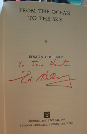 FROM THE OCEAN TO THE SKY by HILLARY, Edmund, Sir