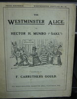 """THE WESTMINSTER ALICE. Illustrated by F. Carruthers Gould by MUNRO, Hector H. (""""Saki"""") (Lewis Carroll)"""
