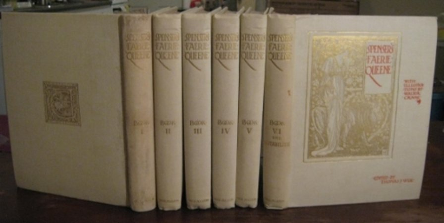 SPENSER'S FAERIE QUEENE: a poem in six books, with the fragment Mutabilitie. Edited by Thomas J. Wise by SPENSER, Edmund (Walter Crane)