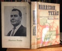 HARRISON, TEXAS: eight television plays by FOOTE, Horton