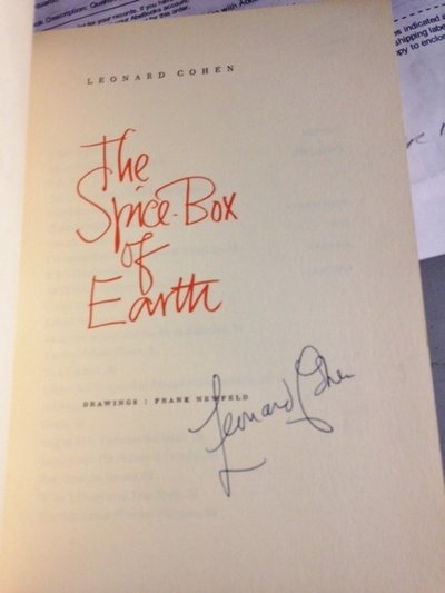 THE SPICE- BOX OF EARTH. Drawings: Frank Newfeld (SIGNED) by COHEN, Leonard