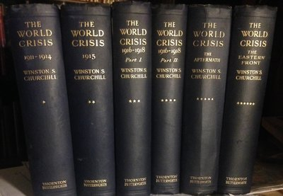 THE WORLD CRISIS (6 volume set, 2 are first printings) by CHURCHILL, Winston S.