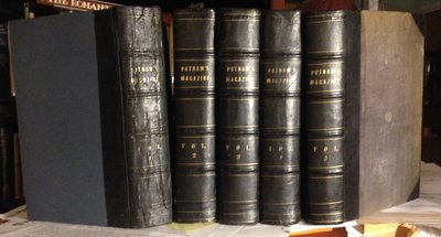PUTNAM'S MONTHLY MAGAZINE of American Literature, Science and Art. Vols. 1-5, Jan. 1853 - July, 1855 by MELVILLE, Herman; Henry David Thoreau; Henry Wadsworth Longfellow, James Russell Lowell, James Fenimore Cooper