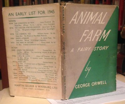 ANIMAL FARM: a fairy story by ORWELL, George