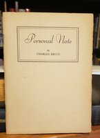 PERSONAL NOTE by BRUCE, Charles