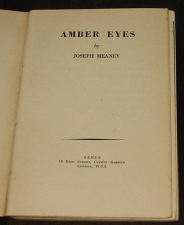 Amber Eyes by MEANEY. Joseph,