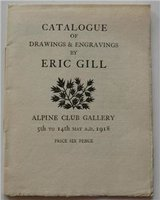 Catalogue of Drawings and Engravings by Eric Gill by GILL, Eric