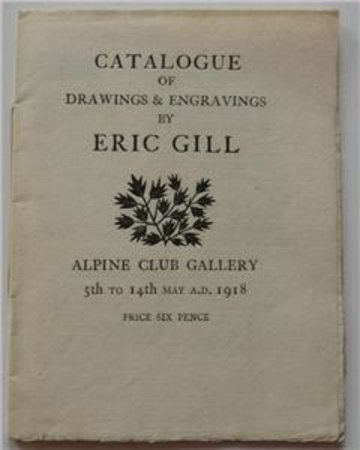 Catalogue of Drawings and Engravings by Eric Gill by GILL