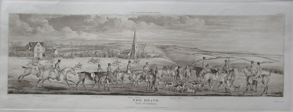 THE DEATH by ALKEN, Henry Thomas. & SUTHERLAND, T.