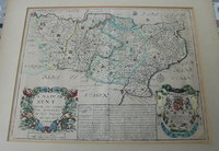 A Mapp of Kent. by BLOME, Richard