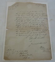 An autograph letter, signed, to Lt. Col. MARLAY 14th Regiment & Sir James Willoughby GORDON K.C.B. Quartermaster Royal Artillery. by GOLD, Charles. Lt Col. Royal Artillery. [1768-1842].