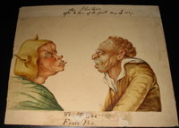 A finely drawn and hand-coloured original caricature - 'The Electors after the Close of the Poll, May 13th 1807' by Anon.