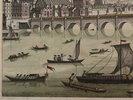 Another image of Vue d'optique du Pont de Westminster Du Côté du Nord de Londres by LEIZELT, Balthazar Frederic.