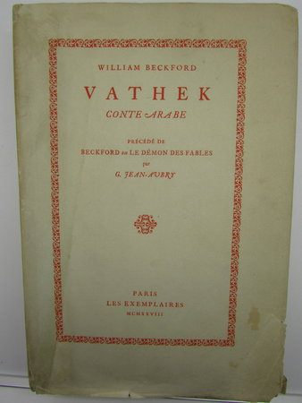 Vathek Conte Arabe by BECKFORD, William