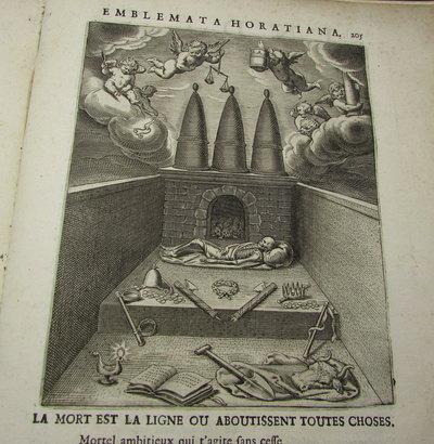 Quinti Horatii Flacci Emblemata. Imaginibus in æs incisis, notisque illustrata. Studio Othonis VænI Batavo-Lugdunensis. by VEEN [Otto Van]