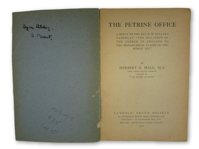The Petrine Office by HALL, Herbert E.