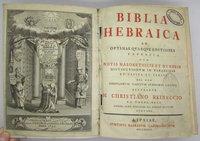 Biblia Hebraica by REINECCIO, M. Christiano