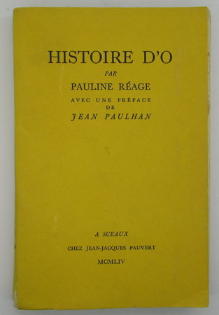 Histoire D'O by REAGE, Pauline.