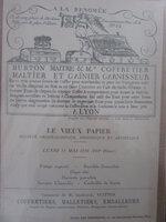 Invitation for the talk / dinner by Gaston Louis-Vuitton by Le Vieux Papier Société Archéologique, Historique et Artistique