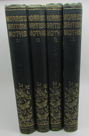 A Natural History of British Moths - 4 volumes by MORRIS, The Reverend F. O.