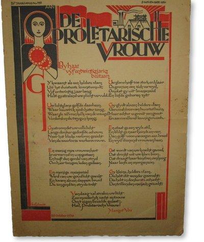 De Proletarische Vrouw by POTHUIS-SMIT, Wilhelmina