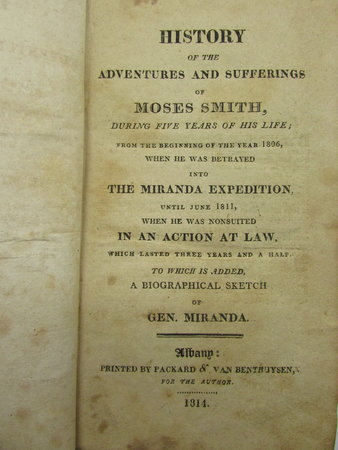 History of the Adventures and Sufferings of Moses Smith during five years of his life; by SMITH, Moses