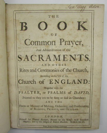 The Book of Common Prayer, by [Anon]