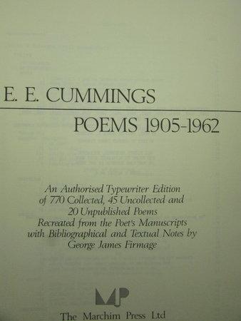 Poems 1905-1962 by CUMMINGS, E.E. [Edward Estlin]