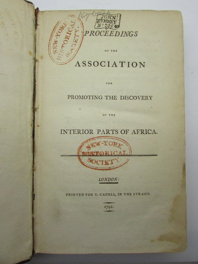 Proceedings of the Association for Promoting the Discovery of the Interior Parts of Africa by [Anon]
