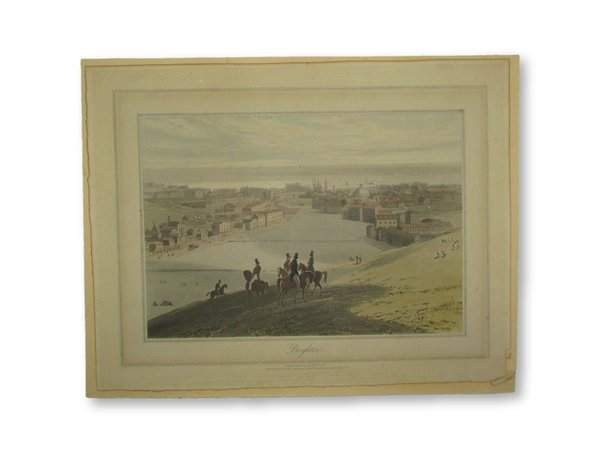 Colour-printed aquatint with hand-finishing on wove paper: Brighton by DANIELL, William