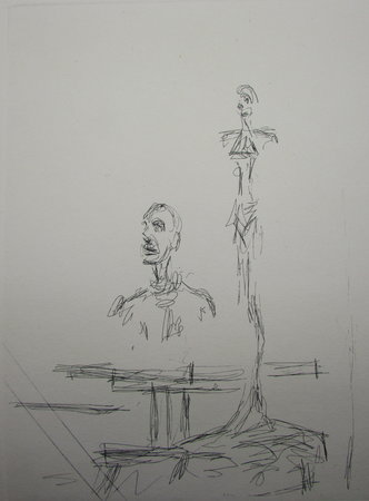 Etching - The Search by GIACOMETTI, Alberto