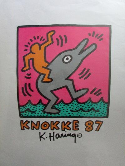 Silkscreen print Avant la lettre - Knokke 87 by HARING, Keith