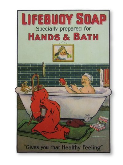 Early Edwardian Loose leaf Advertisement for Lifebuoy Soap by OWEN, Will