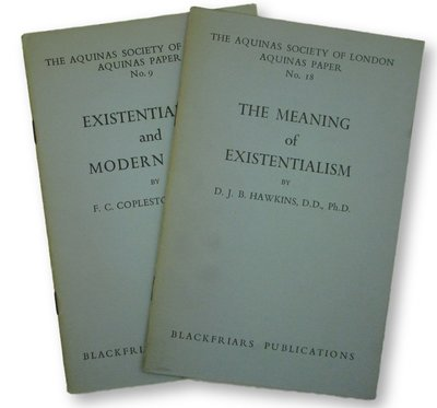 Two copies of The Aquinas Society of London Aquinas Papers by HAWKINS, D. J. B. and COPLESTON, F. C.