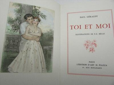 Toi et moi illustrations de P.- E. Bécat by GERALDY, Paul