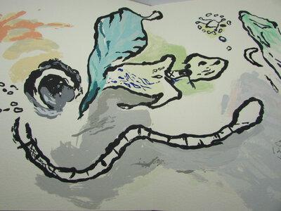 Pentecôte : ensemble de quatre pièces [sérigraphies] à déplier : la Pressante, l''Ondoyante, la Turbulante, la Fuyante by MATTRAT (Jean-Claude)
