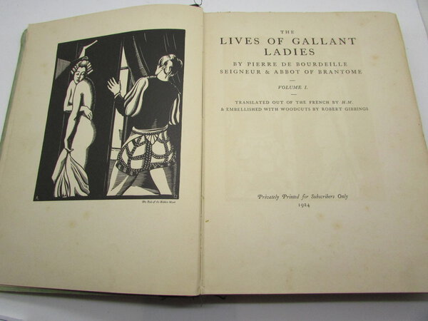 The Lives of Gallant Ladies, with woodcuts by Robert Gibbings by BRANTOME, Pierre de Bourdeille