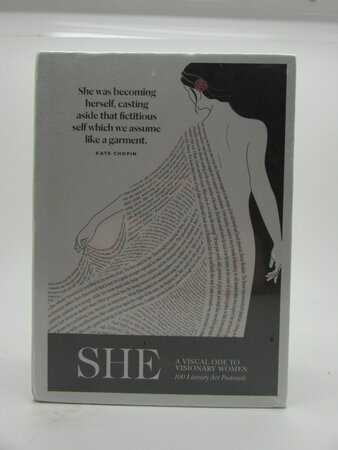 She - A Visual Ode to Visionary Women - 100 Literary Art Postcards by OBVIOUS STATE