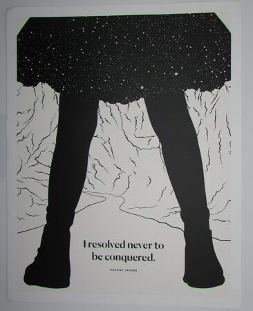 I Resolve Never to be Conquered. A Literary Art Print by OBVIOUS STATE