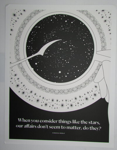 When you consider things like the stars, our affairs don't seem to matter, do they? A Literary Art Print by OBVIOUS STATE