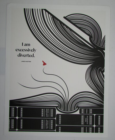 I am excessively diverted. A Literary Art Print by OBVIOUS STATE