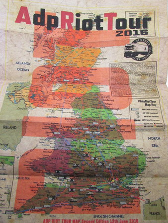 AdpRiotTour Limited Edition Distressed Riot Map by CAUTY, Jimmy