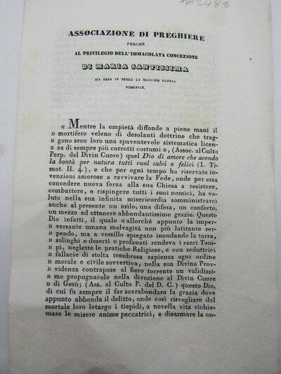 Perch al Privilegio Dell' Immacolata Concezione di Maria Santissima by ASSOCIAZIONE DI PREGHIERE