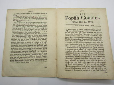 The Weekly Pacquet pf Advice from Rome: Or the History of Popery. The Second volume by [ANON]