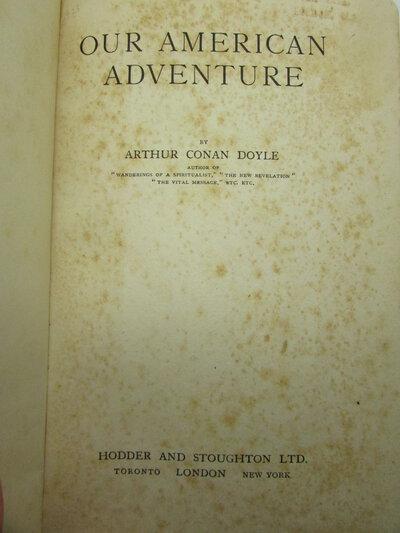 Our American Adventure by CONAN DOYLE, Arthur