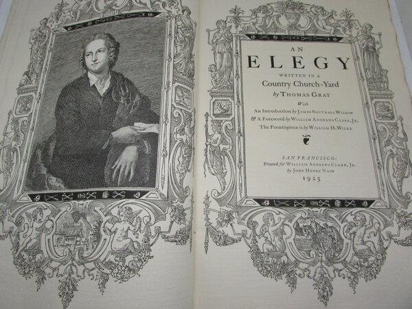 An Elegy Written in a Country Church-Yard by GRAY, [Thomas].
