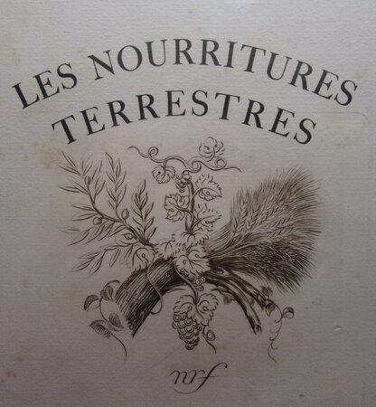 Les Nourritures terrestres. by GIDE, André