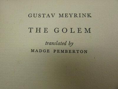 The Golem. by MEYRINK, Gustav