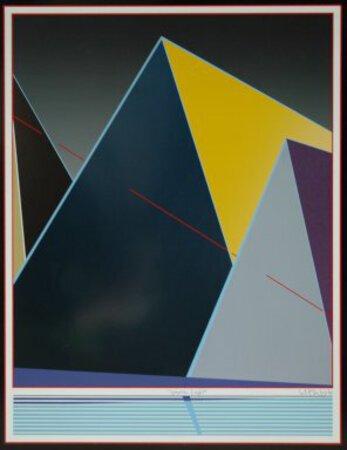 'Graphic Light' silkscreen print in frame by VAN DER VET, Wout