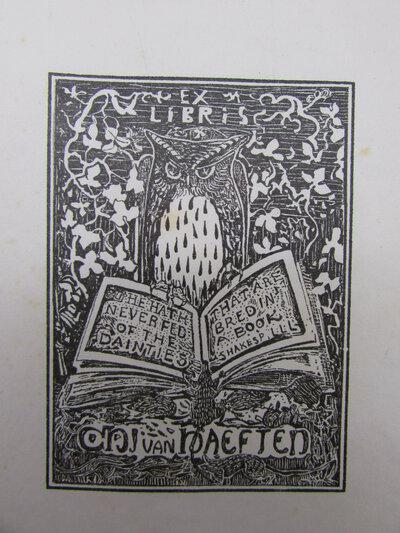 Ex-libris van Jhr. C.H.J. van Haeften by HOYTEMA, Theo Van. [1863-1917]